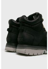 Czarne buty trekkingowe sorel na sznurówki, z cholewką