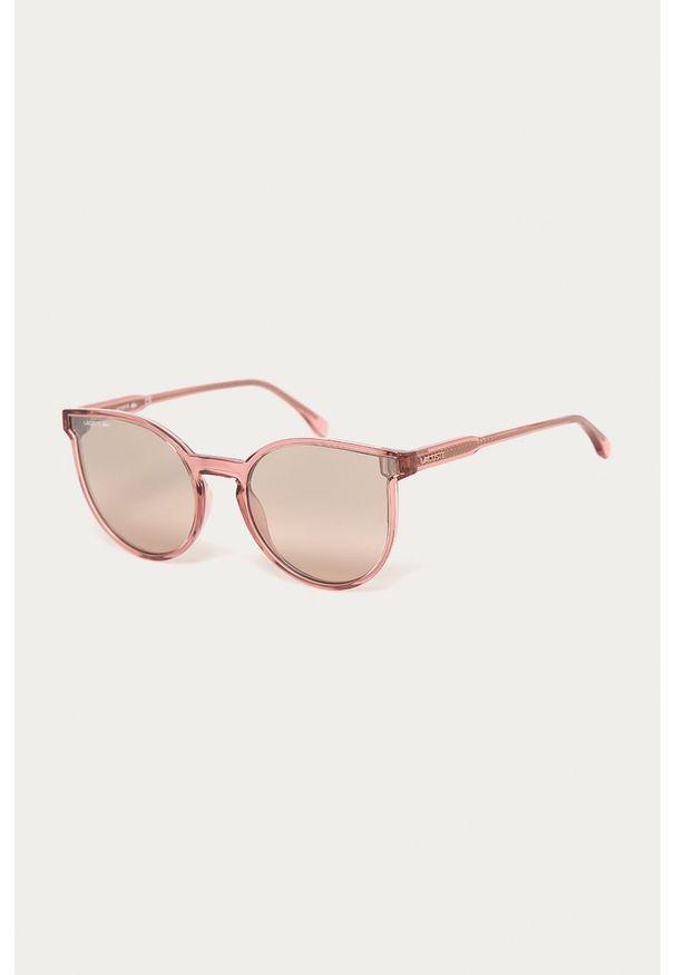 Lacoste - Okulary przeciwsłoneczne L896S 662. Kolor: różowy. Materiał: materiał, syntetyk