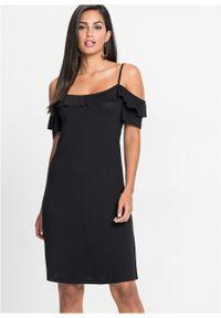 Czarna sukienka bonprix prosta