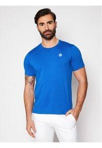 North Sails T-Shirt Logo 692530 Niebieski Regular Fit. Kolor: niebieski