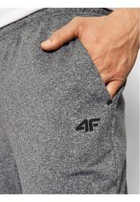 4f - 4F Spodnie dresowe NOSH4-SPMTR001 Szary Regular Fit. Kolor: szary. Materiał: dresówka
