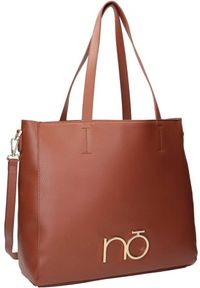 Shopper damski brązowy Nobo NBAG-K3950-C017. Kolor: brązowy. Wzór: gładki. Materiał: skórzane