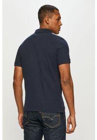 Niebieska koszulka polo Tom Tailor gładkie, polo