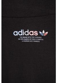 Czarne legginsy adidas Originals z podwyższonym stanem, z nadrukiem