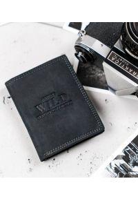 ALWAYS WILD - Portfel męski czarny Always Wild N20194-MHU-RFID-2229. Kolor: czarny. Materiał: skóra. Wzór: aplikacja
