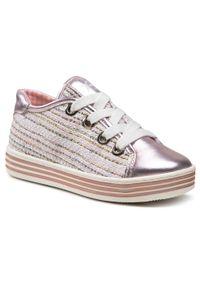 Primigi - Sneakersy PRIMIGI - 3433711 S Skin. Kolor: różowy. Materiał: skóra, materiał. Wzór: aplikacja