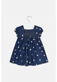 Niebieska sukienka Mayoral z krótkim rękawem, mini