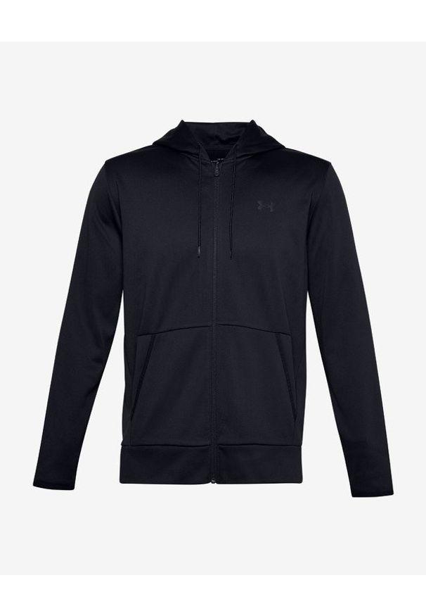 Czarna bluza Under Armour w kolorowe wzory, z kapturem