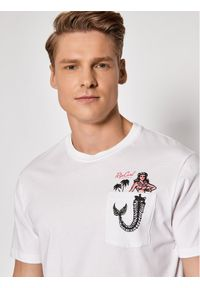 Rip Curl T-Shirt In Da Pocket CTESZ5 Biały Standard Fit. Kolor: biały
