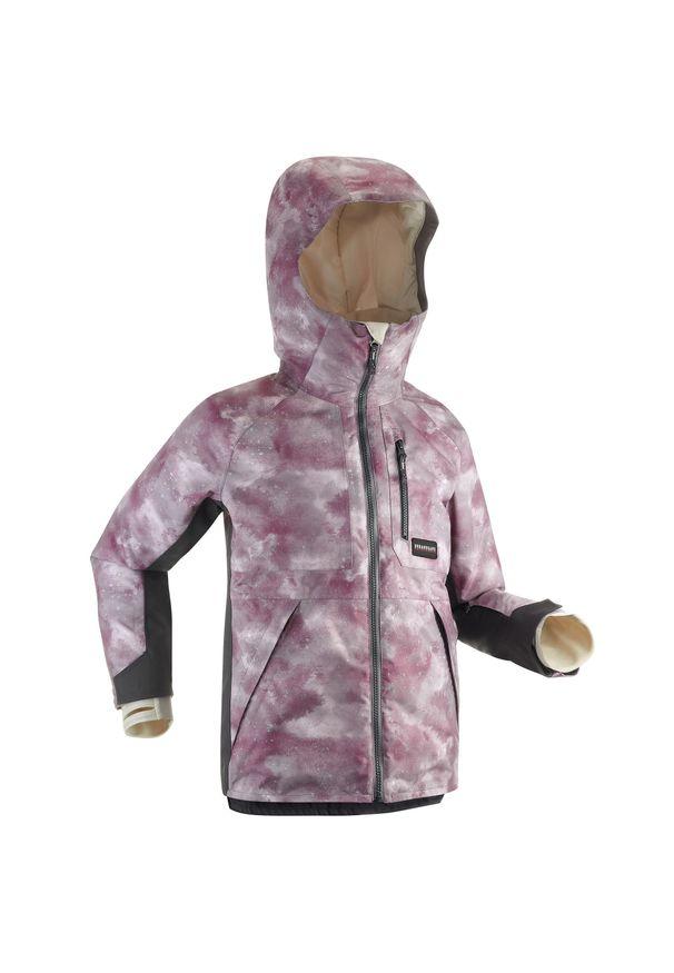 DREAMSCAPE - Kurtka snowboardowa dla dzieci Dreamscape SNB JKT 500. Kolor: fioletowy. Materiał: polar, materiał. Sezon: zima. Sport: snowboard