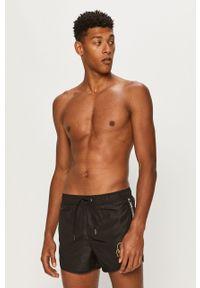 Czarne kąpielówki Karl Lagerfeld z nadrukiem