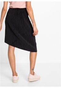 Spódnica plisowana bonprix czarny. Kolor: czarny