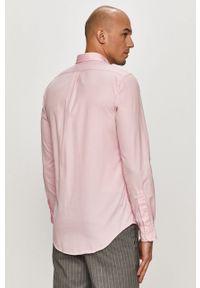 Różowa koszula Polo Ralph Lauren z długim rękawem, długa, na co dzień