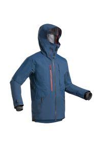 WEDZE - Kurtka narciarska męska Wedze Freeride JKT SKI FR900. Kolor: niebieski. Materiał: materiał. Długość: długie. Sport: narciarstwo