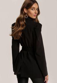 Renee - Czarna Marynarka Vilinvia. Kolor: czarny. Długość rękawa: długi rękaw. Długość: długie. Wzór: gładki, aplikacja