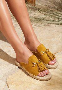 Renee - Żółte Klapki Samba. Kolor: żółty. Sezon: lato
