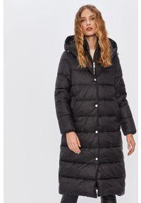 Czarny płaszcz ANSWEAR z kapturem, wakacyjny