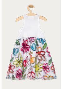 Wielokolorowa sukienka Desigual mini, w kwiaty