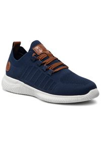 Rieker Sneakersy B7418-14 Granatowy. Kolor: niebieski