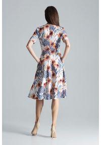 Sukienka Figl midi, w kwiaty