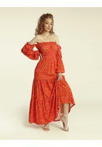 Madnezz - Sukienka Colombiana - carnaval print. Materiał: wiskoza, elastan. Wzór: nadruk