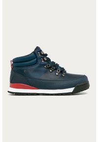 Niebieskie buty sportowe Big-Star z cholewką, na sznurówki, z okrągłym noskiem