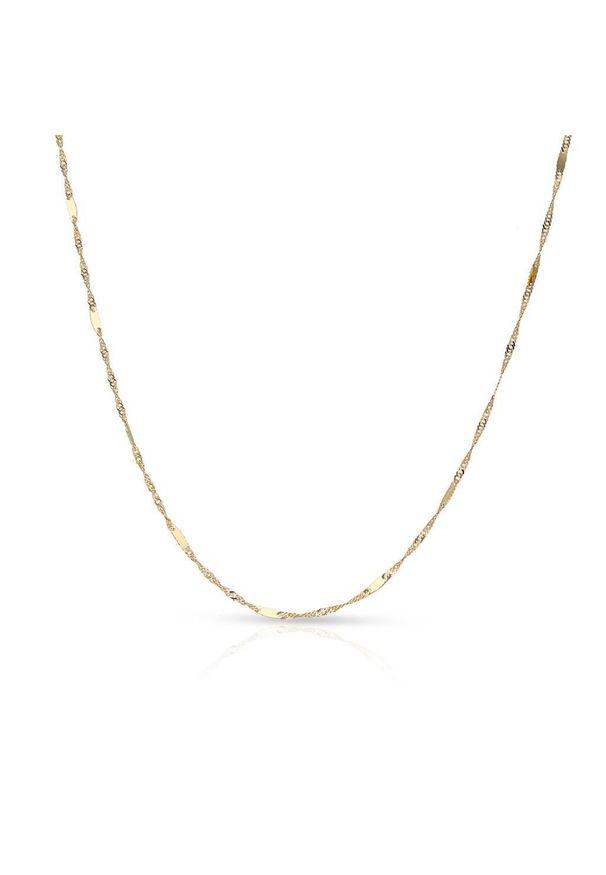 W.KRUK Unikalny Złoty Łańcuszek - złoto 585 - ZVI/LS04. Materiał: złote. Kolor: złoty. Wzór: ze splotem