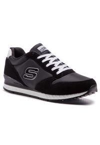 Czarne sneakersy skechers z cholewką, na co dzień