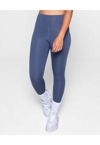 GIRLFRIEND COLLECTIVE - Długie leginsy Tanzanite. Stan: podwyższony. Kolor: niebieski. Materiał: materiał, tkanina. Długość: długie