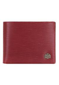 Wittchen - Damski portfel skórzany z fakturą średni. Kolor: czerwony. Materiał: skóra