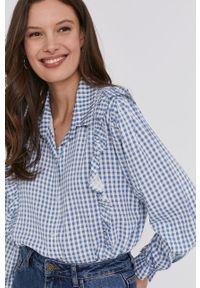 Niebieska koszula Answear Lab na co dzień, długa, wakacyjna