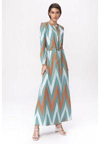 Sukienka Nife szmizjerki, na spotkanie biznesowe, maxi, biznesowa