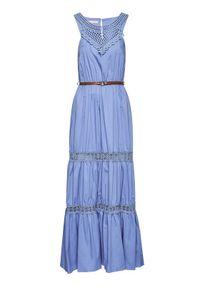 Rinascimento Sukienka letnia CFC0103508003 Granatowy Regular Fit. Kolor: niebieski. Sezon: lato