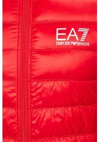 Czerwona kurtka EA7 Emporio Armani casualowa, bez kaptura, na co dzień