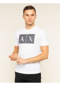 Biały t-shirt Armani Exchange
