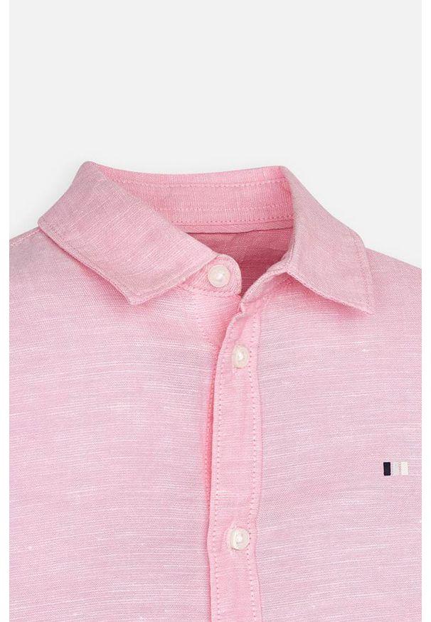 Różowa koszula Mayoral długa, na co dzień, casualowa