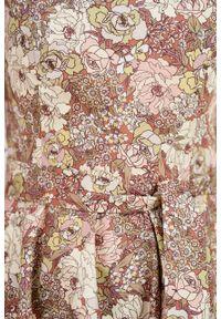 Marie Zélie - Sukienka Alana Sorocarpa. Typ kołnierza: kokarda. Materiał: bawełna, skóra, materiał, elastan