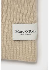 Marc O'Polo - Szalik wełniany. Kolor: beżowy. Materiał: wełna