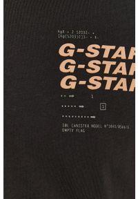 G-Star RAW - G-Star Raw - T-shirt. Okazja: na co dzień. Kolor: czarny. Materiał: bawełna. Wzór: nadruk. Styl: casual