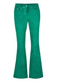 """Spodnie BOOTCUT """"used look"""" bonprix zielony miętowy """"used"""". Kolor: zielony"""