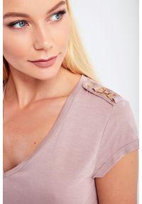 Elisabetta Franchi - T-SHIRT ELISABETTA FRANCHI. Długość rękawa: krótki rękaw. Długość: krótkie. Wzór: aplikacja