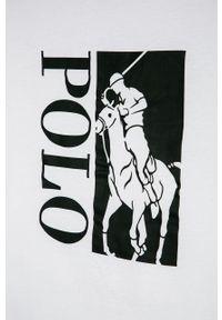 Biały t-shirt Polo Ralph Lauren na co dzień, polo
