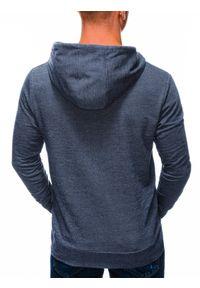 Niebieska bluza Ombre Clothing na co dzień, z kapturem, casualowa