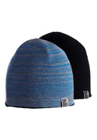 Niebieska czapka Spree melanż, na zimę