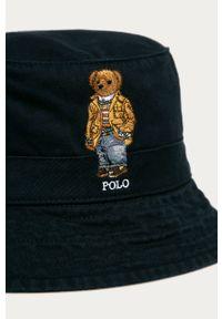 Niebieski kapelusz Polo Ralph Lauren z aplikacjami