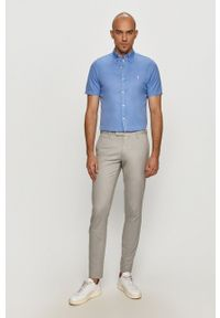 Polo Ralph Lauren - Spodnie. Kolor: szary. Materiał: tkanina. Wzór: gładki