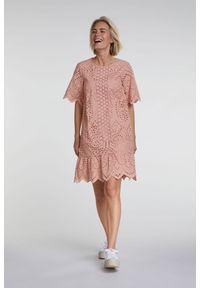 Różowa sukienka Oui asymetryczna