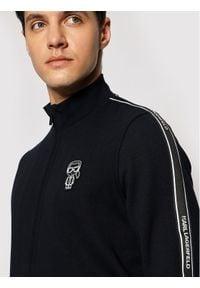 Karl Lagerfeld - KARL LAGERFELD Bluza 705021 511900 Granatowy Regular Fit. Typ kołnierza: dekolt w karo. Kolor: niebieski
