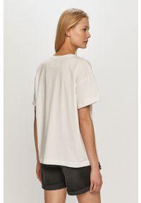 Biała bluzka na co dzień, z nadrukiem, casualowa