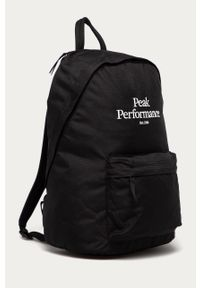 Czarny plecak Peak Performance z aplikacjami